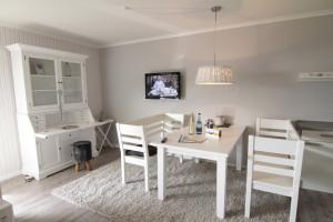 Wohnzimmer Ferienwohnung Strandläufer