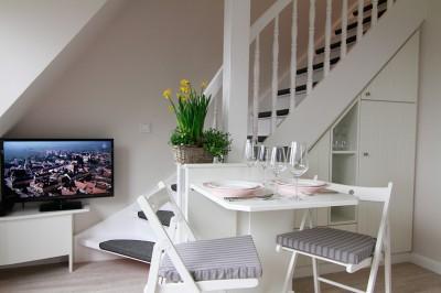 Wohnzimmer der Ferienwohnung Sylt - An der Düne