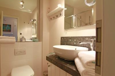 Badezimmer in der Ferienwohnung Sylt - An der Düne