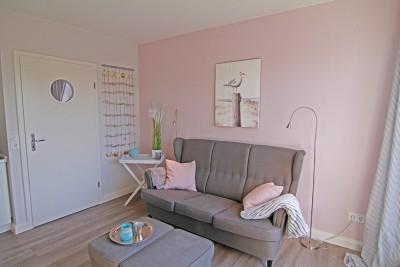 Wohnzimmer Ferienwohnung Möwennest auf Sylt