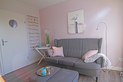 Wohnzimmer in der Ferienwohnung Möwennest